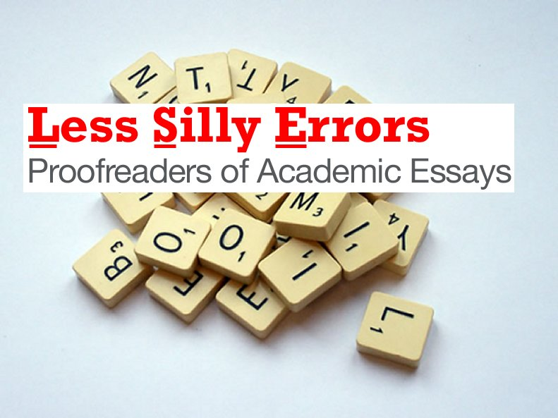 Less Silly Errors